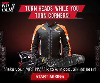 USE BIKE SOUNDS, CREATE YOUR MRF NV MIX AND WIN COOL BIKING GEAR!